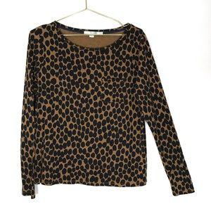 7a9c2a00a628 Boden Tops | Long Sleeve T Shirt Pocket Boxy Animal Print | Poshmark